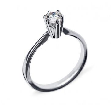 Grace помолвочное кольцо из белого золота с бриллиантом