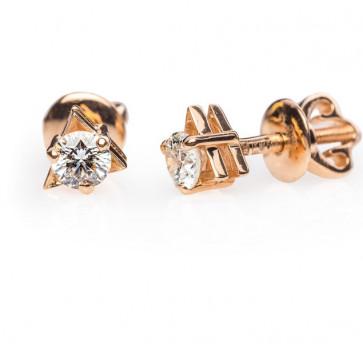 Gatria золотые пусеты с бриллиантами