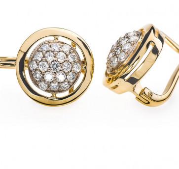 Margaret серьги золотые с бриллиантами