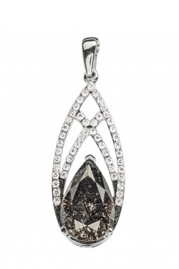 SeaShell подвеска с черным бриллиантом