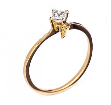 Gloria кольцо из желтого золота с бриллиантом
