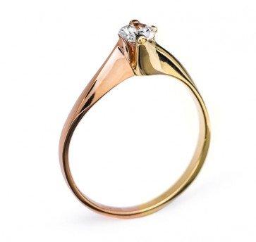 Eugenie утонченное кольцо из золота с бриллиантом