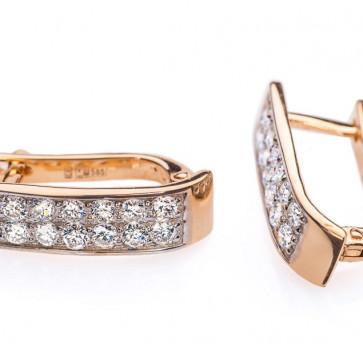 Circinus золотые серьги с обсыпкой из бриллиантов