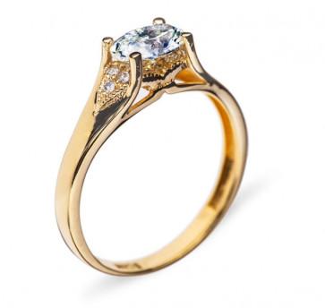 Cordelia золотое кольцо с бриллиантом
