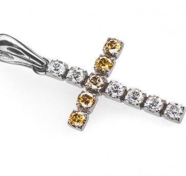 Mira крест с бриллиантами