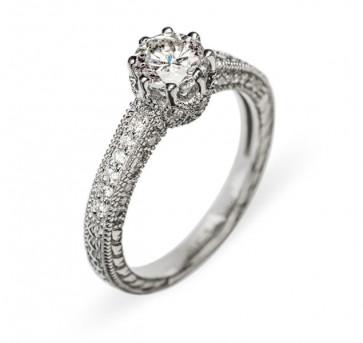 Leda кольцо из белого золота с бриллиантами
