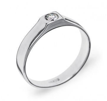 Sonam стильное кольцо из белого золота с бриллиантом