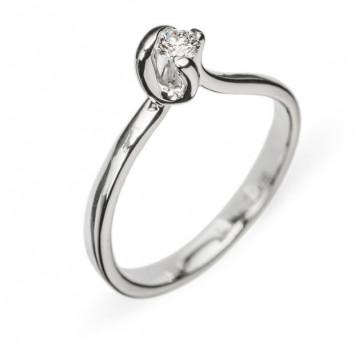 Haya кольцо из белого золота с бриллиантом