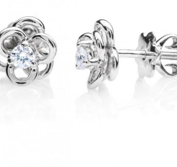 Ancha золотые серьги гвоздики с бриллиантами