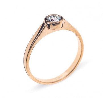 Noor кольцо из красного золота с бриллиантом