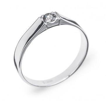 Odelia кольцо из белого золота с бриллиантом