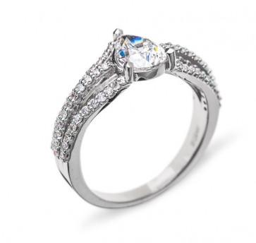 Ophelia кольцо с грушевидным бриллиантом