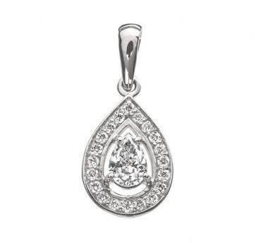 Daphne элегантная подвеска с бриллиантом в форме груши