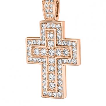 Подвеска-крест с бриллиантами P0774