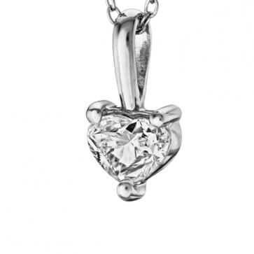 Подвеска с бриллиантом сердце P0983