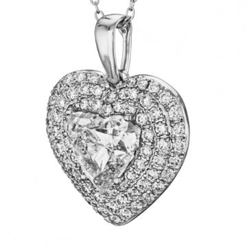 Кулон с крупным бриллиантом P0995