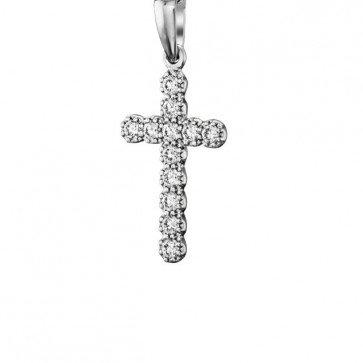 Бриллиантовый крестик P1078