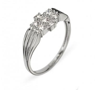Pavo кольцо из белого золота с бриллиантами