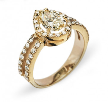 Kale золотое кольцо с бриллиантом