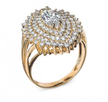 Despina золотое кольцо с бриллиантами
