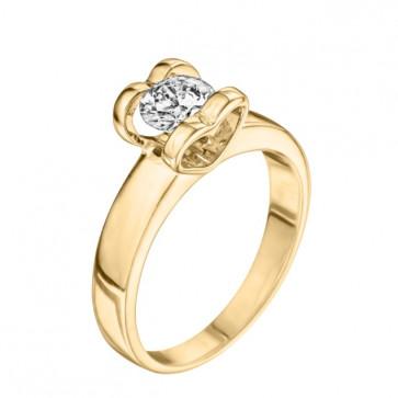 Кольцо с бриллиантом R0817