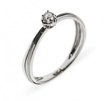 Mathilde кольцо из белого золота с бриллиантом