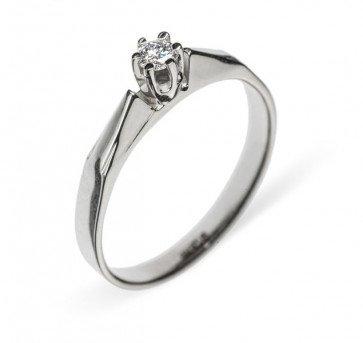 Alexandra прелестное кольцо из белого золота с бриллиантом