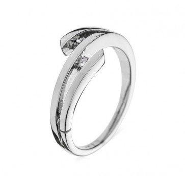 Media кольцо из белого золота с бриллиантами