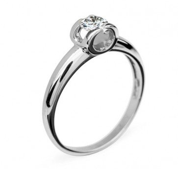 Polaris стильное кольцо с бриллиантом для помолвки