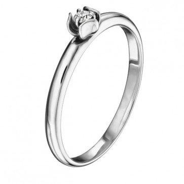 Martha кольцо из белого золота с бриллиантом
