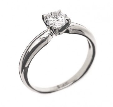 Eleanor классическое кольцо c бриллиантом
