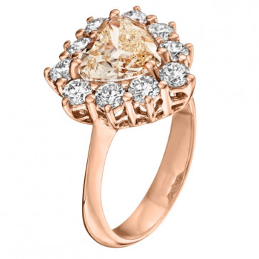 Кольцо с бриллиантами R1021