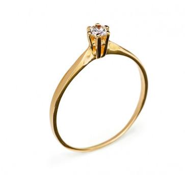 Sarah кольцо из красного золота с бриллиантом R0567 Цена: 7.020