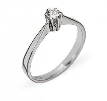 Tamara кольцо из белого золота с бриллиантом