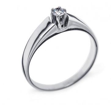 Tiana кольцо из белого золота с бриллиантом