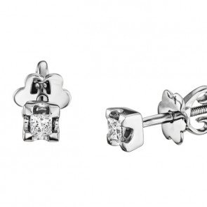 Пусеты с бриллиантами-принцессами E0969