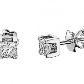 Современные пусеты с бриллиантами E0912