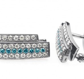 Роскошные золотые серьги с бриллиантами Turquoise