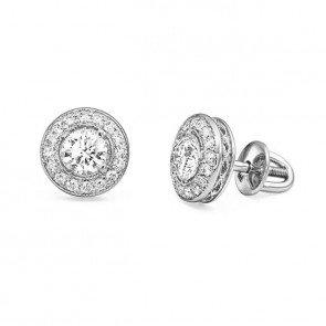 Пусеты с бриллиантами E0586