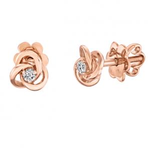 Пусеты с бриллиантами E0916-1