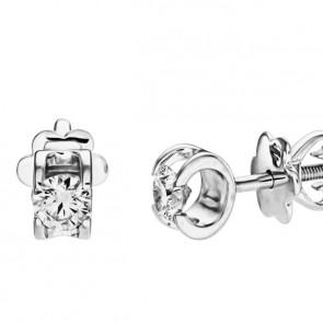 Polaris стильные пусеты с бриллиантами
