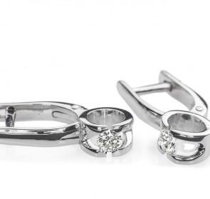 Polaris золотые сережки с бриллиантом