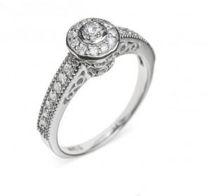 Belinda ажурное кольцо с бриллиантом