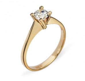 Anne кольцо из желтого золота с бриллиантом