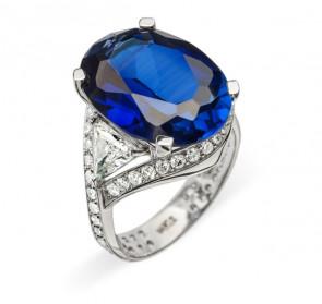 Navy золотое кольцо с сапфиром