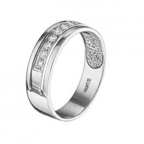 Vela кольцо из белого золота с бриллиантовой обсыпкой